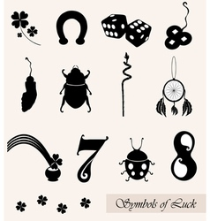 Luck symbols set vector