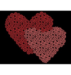valentines made of gears vector image