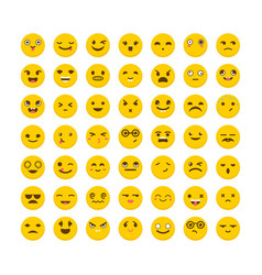 Set of emoticons flat design big collection with vector