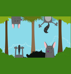 Cute linear endless with fun wolf vector