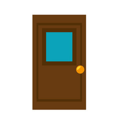 Store door isolated icon vector