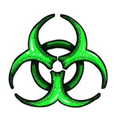 Cartoon image of biohazard sign vector