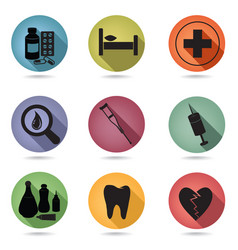 health care icon set medical clinic sign vector image