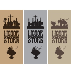 Liquor store vector