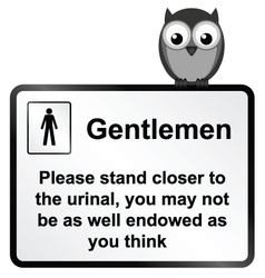 Gents urinal vector