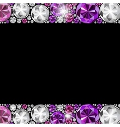 Abstract luxury black diamond background vector