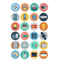 Electronics flat icons 4 vector