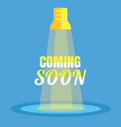 Coming soon vector