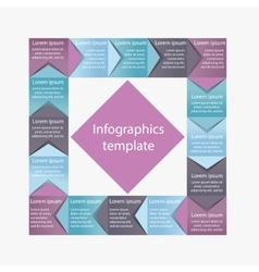 Infographics business template vector image