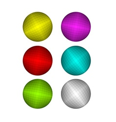 Set of Colorful disco ball Pink and Red disco ball vector image