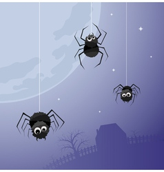 Creepy spiders background vector