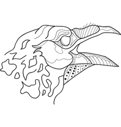 Crow head lineart vector