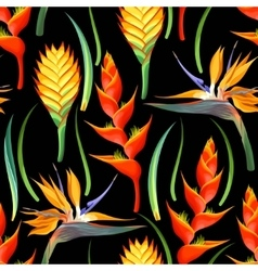 Jungle flowers seamless vector