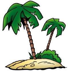 Palms beach vector