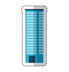 big building silhouette icon vector image vector image