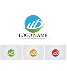 Business finance logo - concept vector