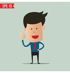 Business man showing a ok symbol - - EPS10 vector image vector image