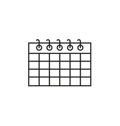 calendar work date icon vector image