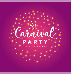 Carnival colorful poster vector