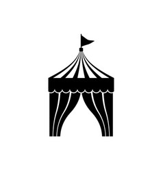 circus tent icon vector image vector image