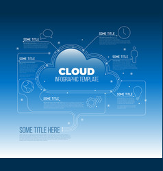 Cloud storage computing - infographic template vector