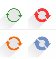 Color arrow refresh reset repeat icon on white vector