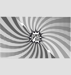 Comic versus monochrome horizontal background vector