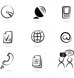 communication technology icon and logos vector image vector image