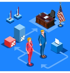 Election Infographic Us Presidential Isometric vector image