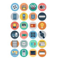 Electronics flat icons 4 vector
