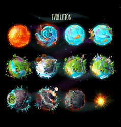 Evolution of earth concept vector