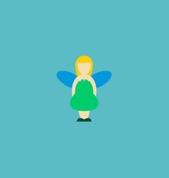 Fairy icon flat element of vector