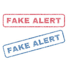 Fake alert textile stamps vector