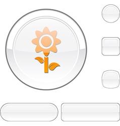 Flower white button vector