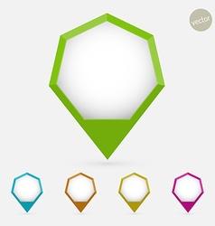 Hexagon pointer vector image vector image