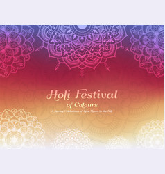 Holi festival of colours background vector