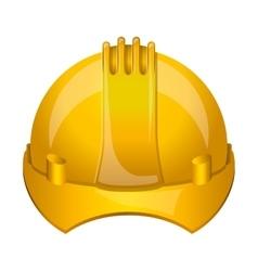 Isoalted helmet of under construction design vector
