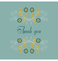 Message With Blue Flowers vector image vector image