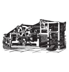 Modern printing press vintage vector