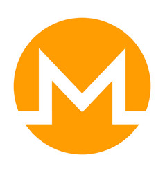 Monero icon for internet money crypto currency vector