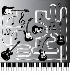 music machine vector image