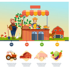 organic health shop natural food agriculture vector image