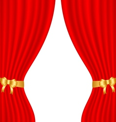 Red curtain vector
