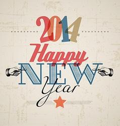 Retro New Year card 2014 vector image