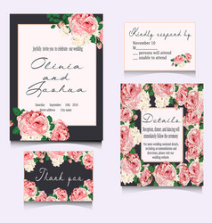 save the date cards wedding invitation vector image vector image