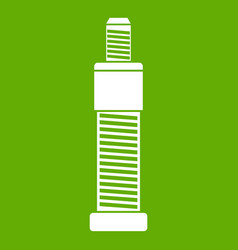 screw and bolt icon green vector image