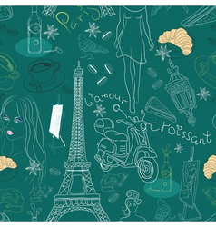 seamless paris background vector image