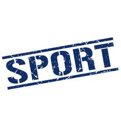Sport stamp vector