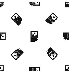 tested ink paper with printer marks pattern vector image