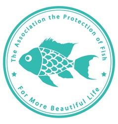 The Association for the Protection of Fish vector image